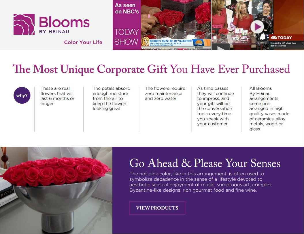 The most unique corporate gift corporate program by Blooms by Heinau