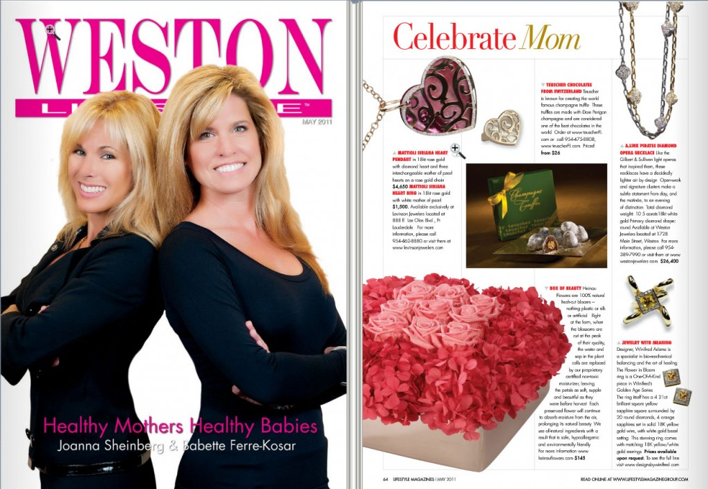 Heinau Flowers in Weston Lifestyle's Mother's Day feature article.