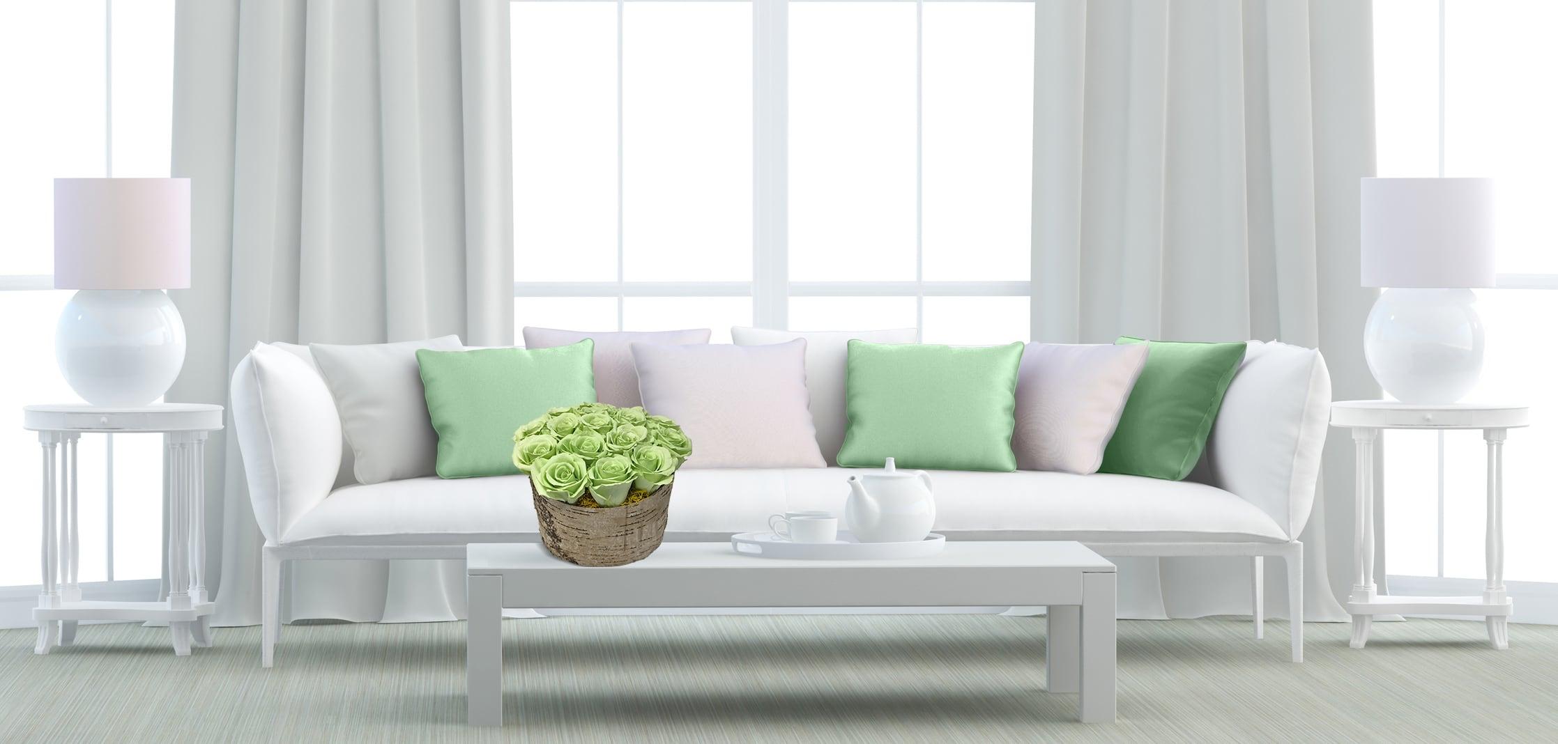 Green Roses Interior Arrangement