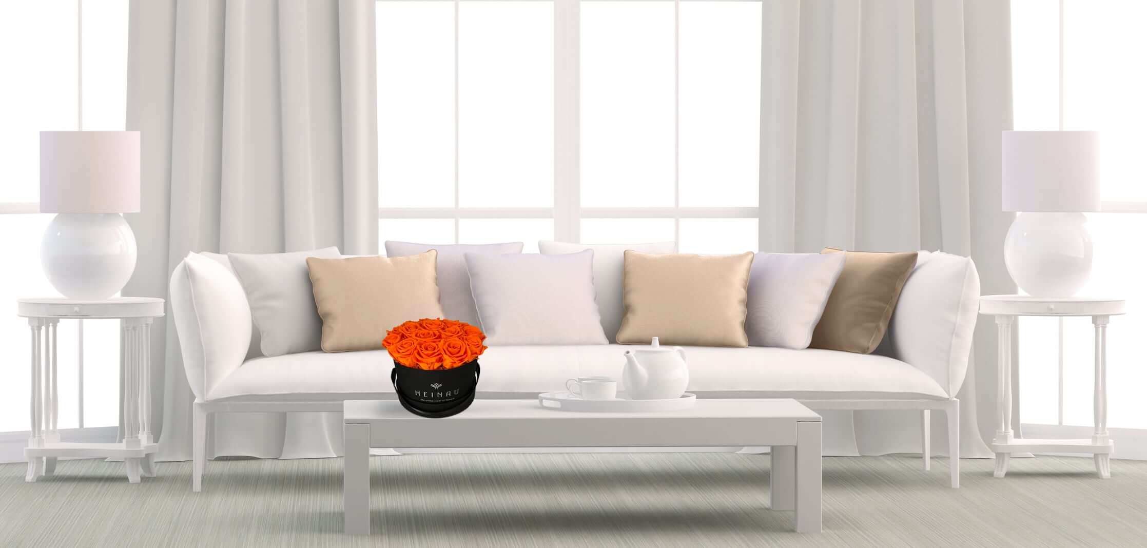 Orange Flowers Arrangement Interior