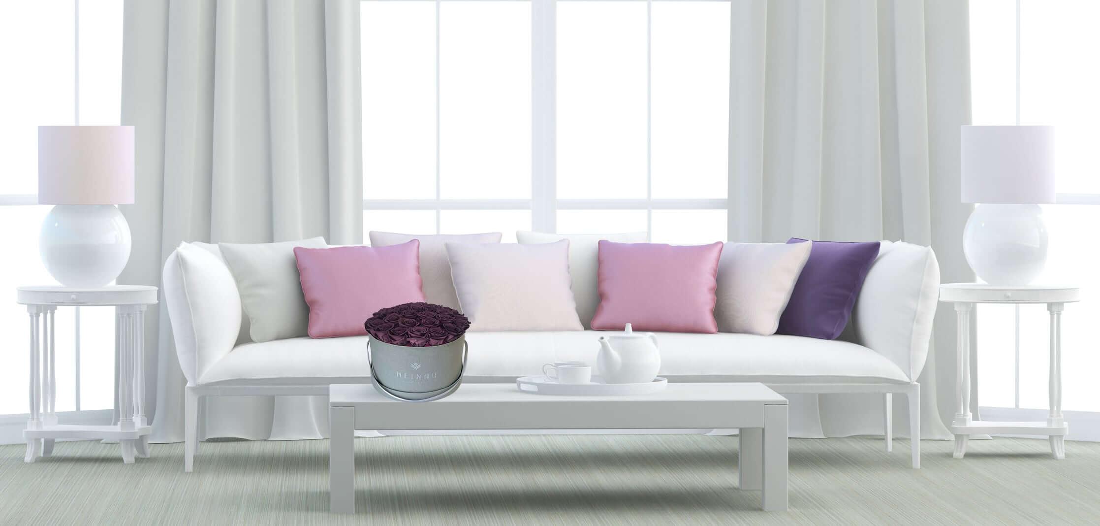 Heinau Purple Flowers Arrangement on Table Interior