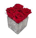 Heinau Crackled Cube Red Roses
