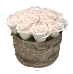 Heinau Birch Bowl White Roses
