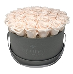 Heinau White Roses Signature Roses Box (Light Grey)