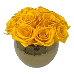 Heinau Fame Yellow Roses Arrangement