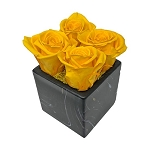 Heinau Thunder Cube Yellow Roses Arrangement